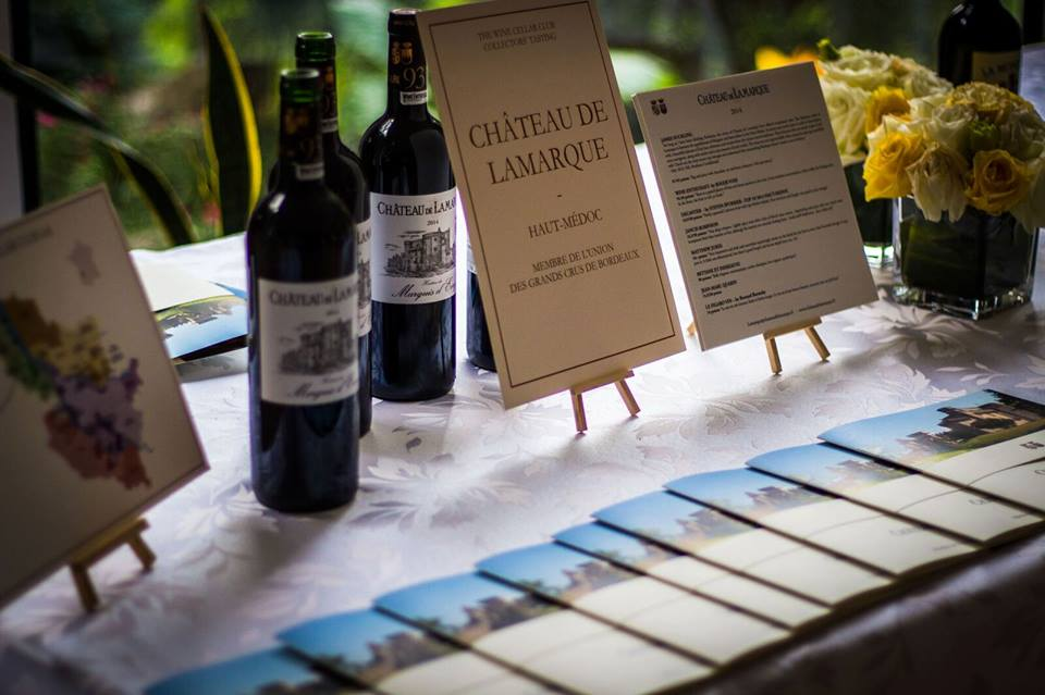 Chateau de Lamarque served during Elisabeth Gromand annual fine wine collector's event at the Shanghai French Consul Residence