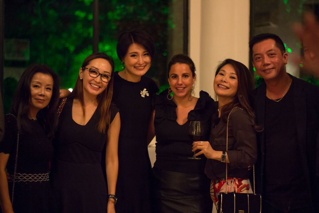 Elisabeth Gromand during her annual fine wine collector's event at the Shanghai French Consul Residence